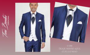 Trajes y Vestidos: U100 TRAJE NOVIO AZUL CUELLO MAO - Benitez & Paulano | Trajes de novio y vestidos de fiesta