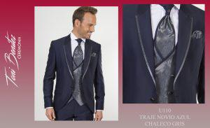 Trajes y Vestidos: U110 TRAJE NOVIO AZUL CHALECO GRIS - Benitez & Paulano | Trajes de novio y vestidos de fiesta