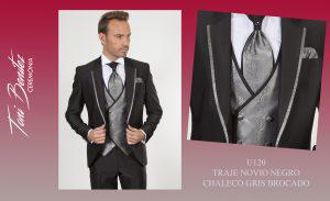 Trajes y Vestidos: U120 TRAJE NOVIO NEGRO CHALECO GRIS - Benitez & Paulano | Trajes de novio y vestidos de fiesta