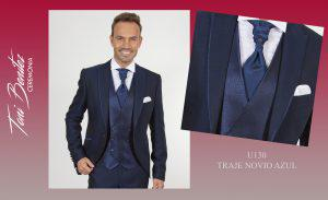 Trajes y Vestidos: U130 TRAJE NOVIO AZUL - Benitez & Paulano | Trajes de novio y vestidos de fiesta