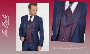 Trajes y Vestidos: U140 TRAJE NOVIO AZUL GRANATE - Benitez & Paulano | Trajes de novio y vestidos de fiesta