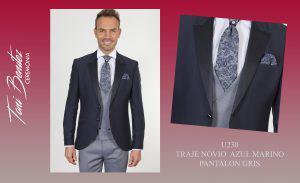 Trajes y Vestidos: U230 TRAJE NOVIO AZUL MARINO PANTALON GRIS - Benitez & Paulano | Trajes de novio y vestidos de fiesta