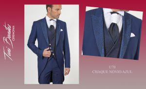 Trajes y Vestidos: U70 CHAQUE NOVIO AZUL - Benitez & Paulano | Trajes de novio y vestidos de fiesta